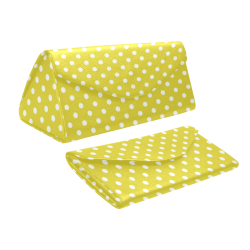Yellow Polka Dot Custom Foldable Glasses Case