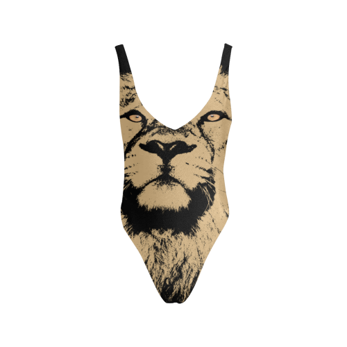 LION BIG CAT SEXY Sexy Low Back One-Piece Swimsuit (Model S09)