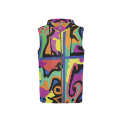 L4G Sleeveless zip up Hoodie_women All Over Print Sleeveless Zip Up Hoodie for Women (Model H16)