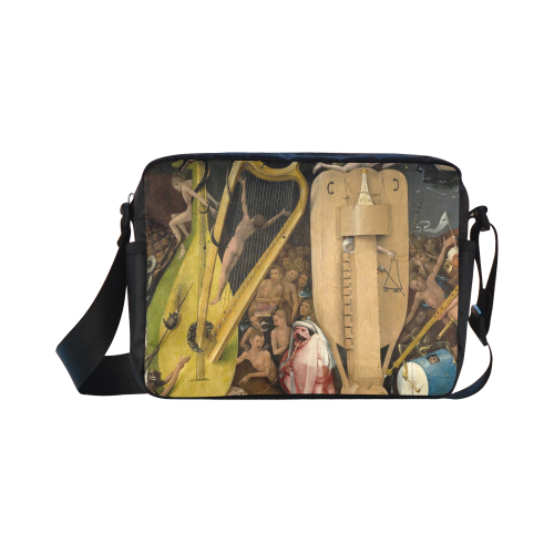 Hieronymus Bosch-The Garden of Earthly Delights (m Classic Cross-body Nylon Bags (Model 1632)