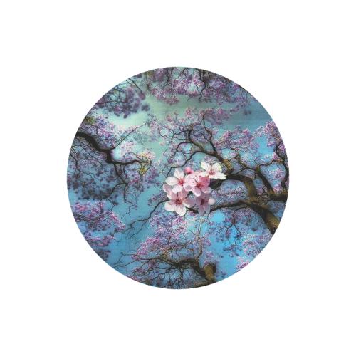 Cherry blossomL Round Mousepad