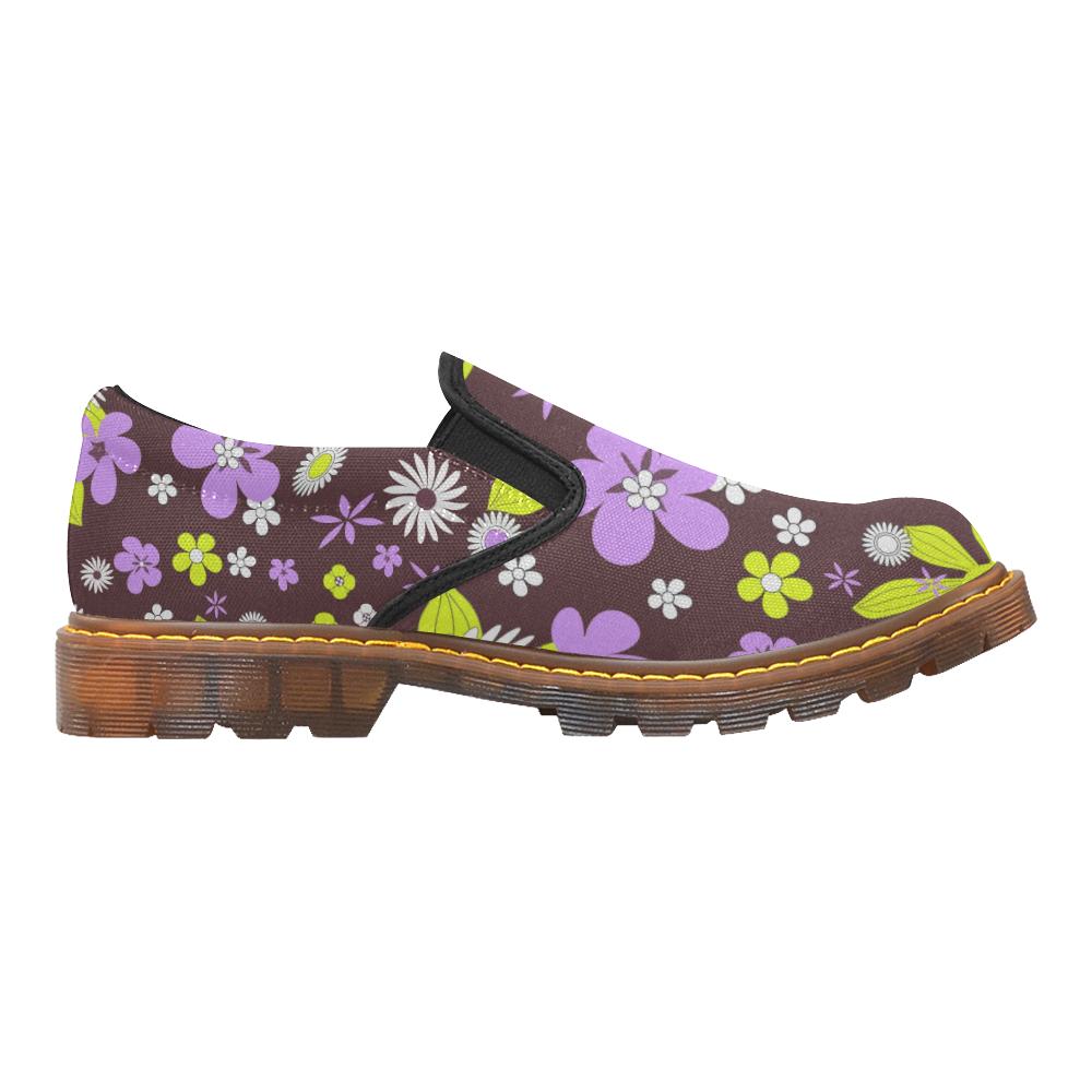 FLORAL DESIGN 4 Martin Women's Slip-On Loafer (Model 12031)