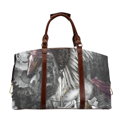 Aweswome steampunk horse with wings Classic Travel Bag (Model 1643) Remake