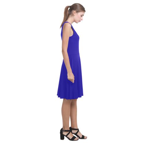 Blue and Stripes Mixed Print Atalanta Casual Sundress(Model D04)