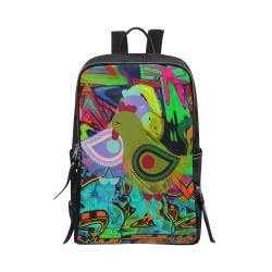 Graffiti Collection Unisex Slim Backpack (Model 1664)