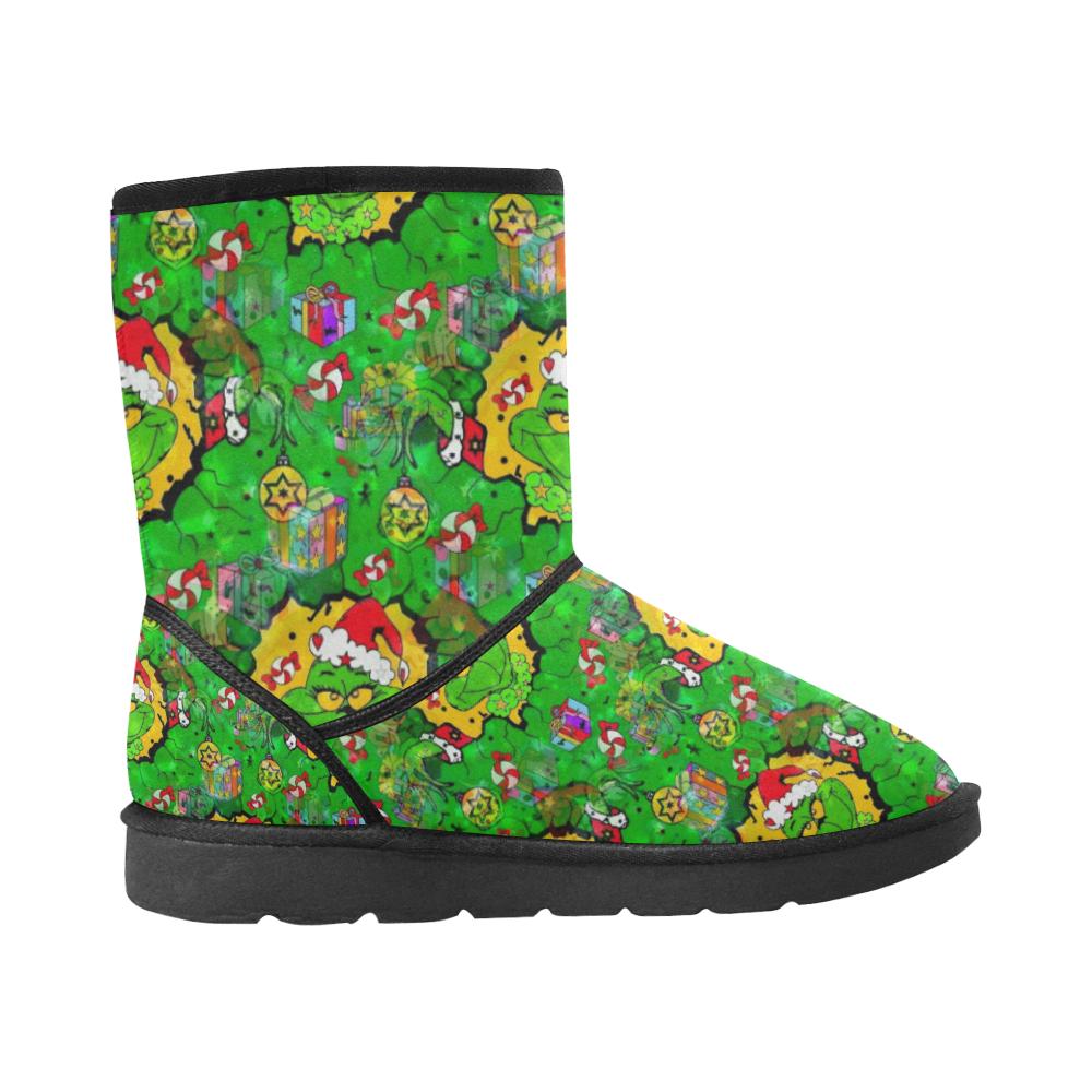Maybe I like Christmas by Nico Bielow Custom High Top Unisex Snow Boots (Model 047)