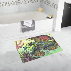 Mindy the Mandarin Fish bath Mat Bath Rug 20''x 32''
