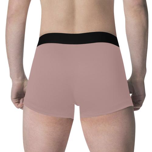 color rosy brown Men's All Over Print Boxer Briefs (Model L34)