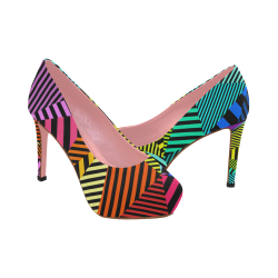 abstracto en color Women's High Heels (Model 044)