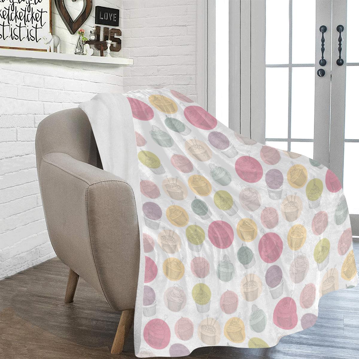 Colorful Cupcakes Ultra-Soft Micro Fleece Blanket 54''x70''