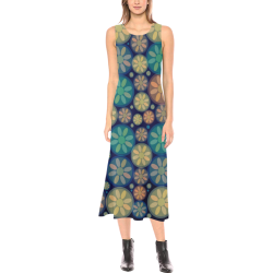 zappwaits flowers p5 Phaedra Sleeveless Open Fork Long Dress (Model D08)
