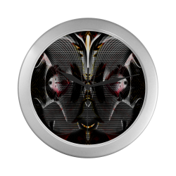 Alien Pilot Unit Silver Color Wall Clock