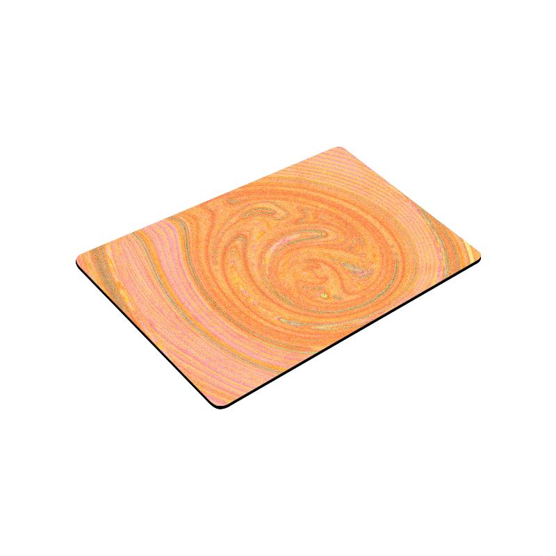 """Peach Abstract Nature's Grain Doormat 30""""x18"""""""