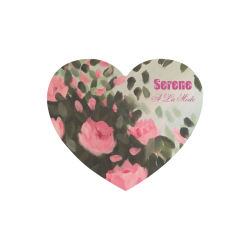 Roses & Bushes Heart-shaped Mousepad