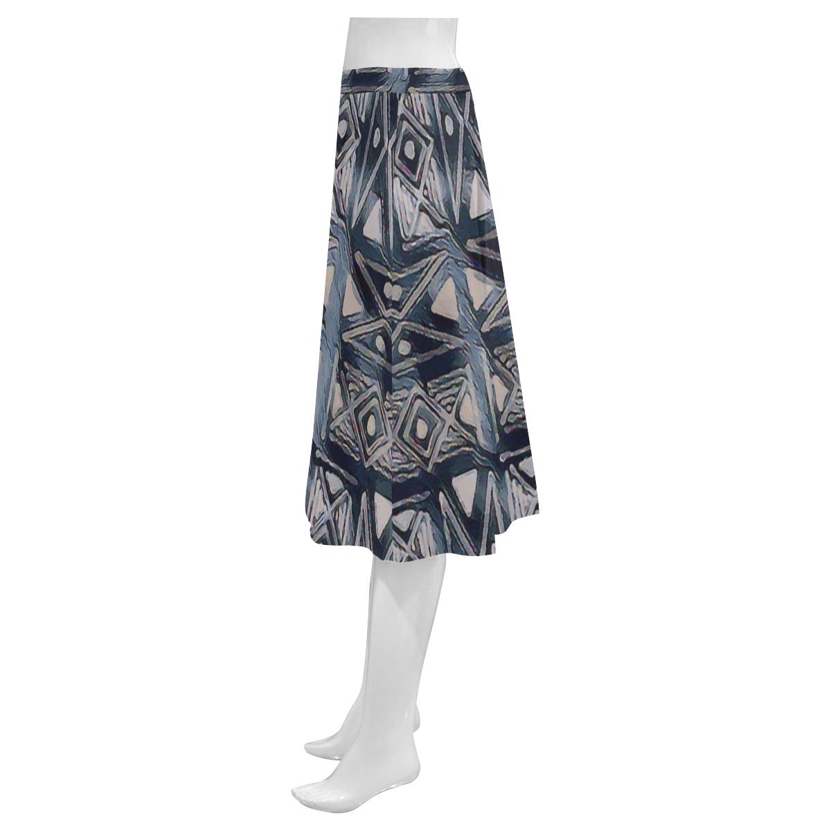 Twist3 Mnemosyne Women's Crepe Skirt (Model D16)