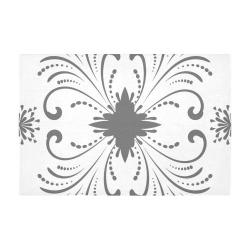 """floral damask Cotton Linen Tablecloth 60"""" x 90"""""""