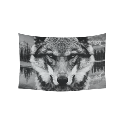 "Wolf Animal Nature Cotton Linen Wall Tapestry 60""x 40"""