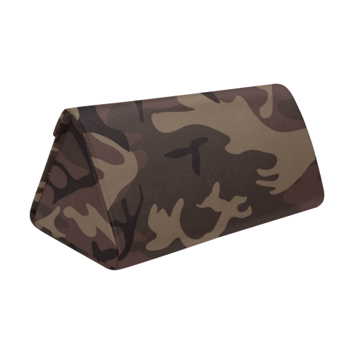 Camo Red Brown Custom Foldable Glasses Case