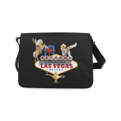 Las Vegas Welcome Sign Messenger Bag (Model 1628)