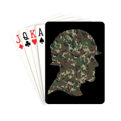 """Forest Camouflage Soldier on Black Playing Cards 2.5""""x3.5"""""""
