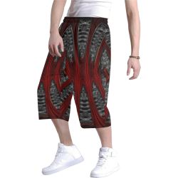 8000  EKPAH 31 low Men's All Over Print Baggy Shorts (Model L37)