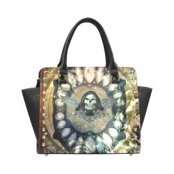 Awesome scary skull Rivet Shoulder Handbag (Model 1645)