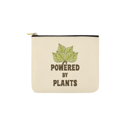 Powered by Plants (vegan) Carry-All Pouch 6''x5''