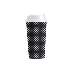 Black polka dots Double Wall Plastic Mug