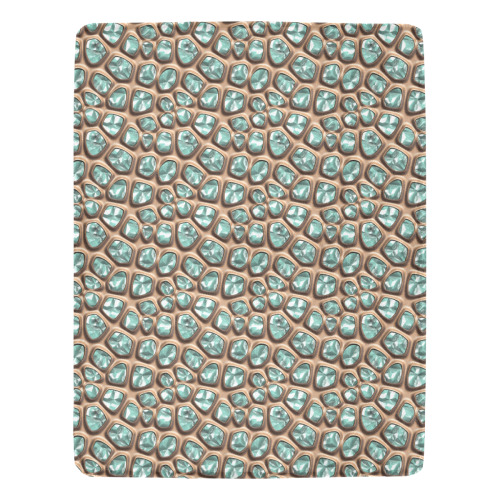 Green crystals Ultra-Soft Micro Fleece Blanket 54''x70''