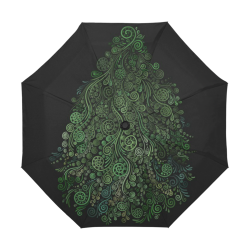 3D Psychedelic Abstract Fantasy Tree Greenery Anti-UV Auto-Foldable Umbrella (U09)