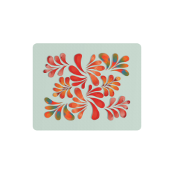 Red Floral Dance Pattern Rectangle Mousepad