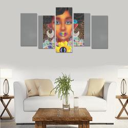 PEACEARTSADD 5PC CAN HOT grey Canvas Print Sets E (No Frame)