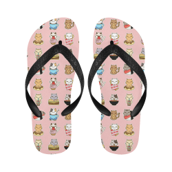 pink Flip Flops for Men/Women (Model 040)