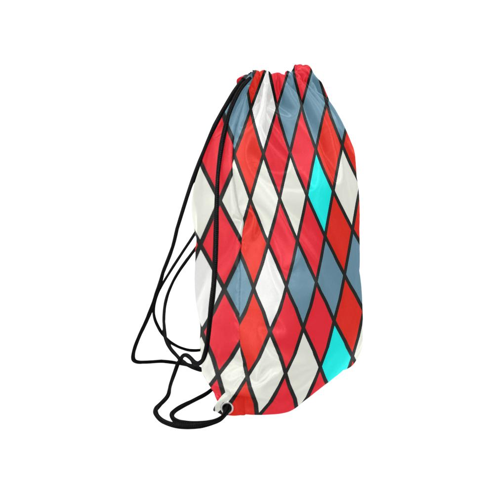"harlequin 2 Medium Drawstring Bag Model 1604 (Twin Sides) 13.8""(W) * 18.1""(H)"