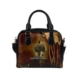 Mechanical skull Shoulder Handbag (Model 1634)