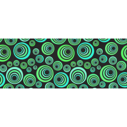 "Crazy Fun Neon Blue & Green retro pattern Gift Wrapping Paper 58""x 23"" (1 Roll)"
