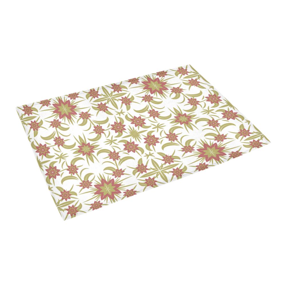 "floral damask Azalea Doormat 24"" x 16"" (Sponge Material)"