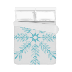 "Snowflake Duvet Cover 86""x70"" ( All-over-print)"