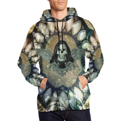 Awesome scary skull All Over Print Hoodie for Men/Large Size (USA Size) (Model H13)