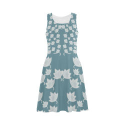 leaves on color ornate Atalanta Sundress (Model D04)