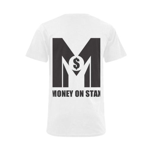 mos - money on stax(mens) Men's V-Neck T-shirt  Big Size(USA Size) (Model T10)
