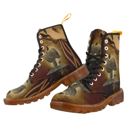 Mechanical skull Martin Boots For Women Model 1203H