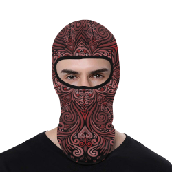 Red, orange, pink, brown 3D Mandala Pattern All Over Print Balaclava