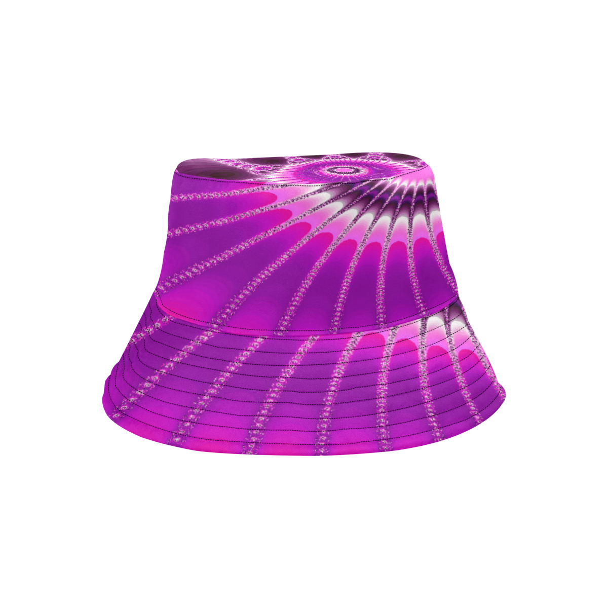 Fuchsia Sunflower All Over Print Bucket Hat