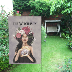 Garden Flag 5 The Witch Is In - Light Skinned Garden Flag 12''x18''(Without Flagpole)