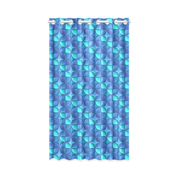 "Blue shades abstract New Window Curtain 52"" x 84""(One Piece)"