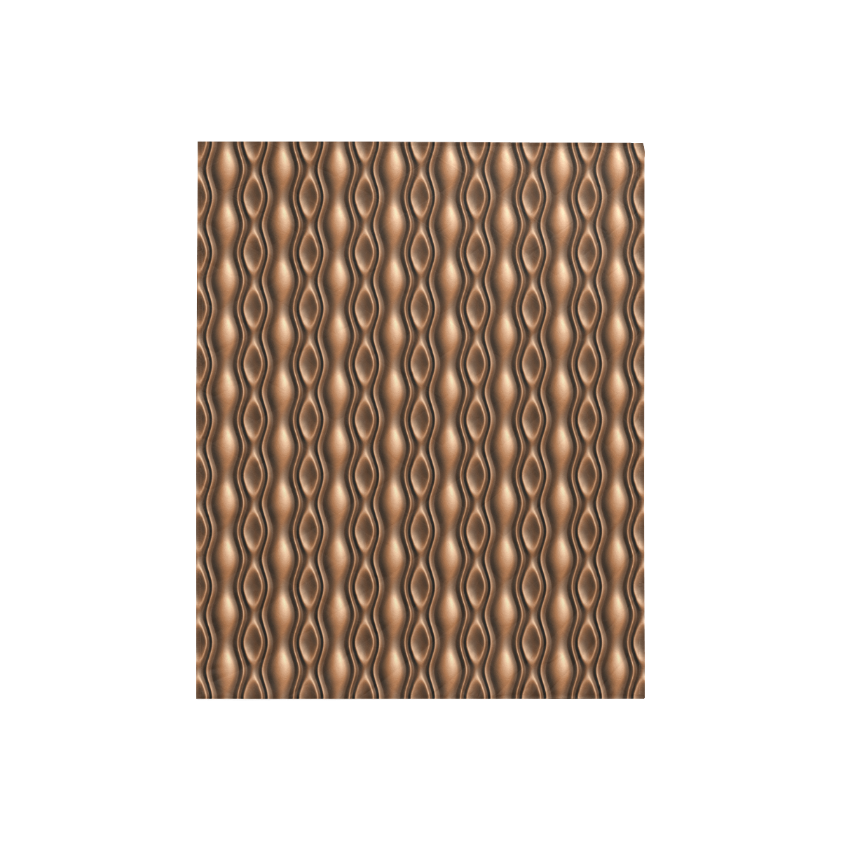 """Brown leather abstract wave Quilt 40""""x50"""""""