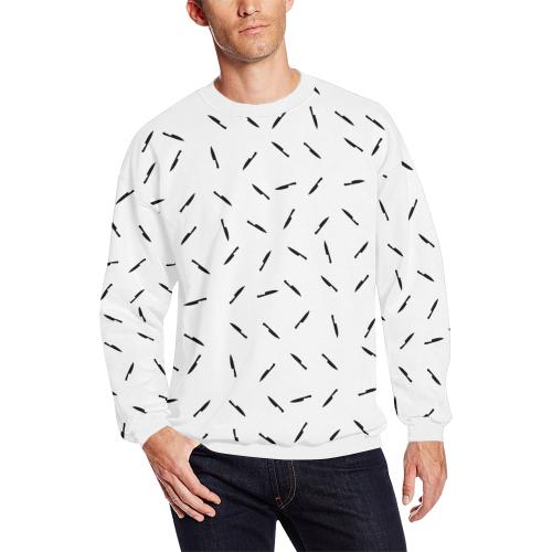 knives blk Men's Oversized Fleece Crew Sweatshirt (Model H18)