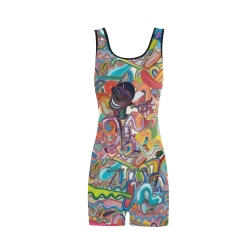 risa-de-trompeta-y-graffiti Classic One Piece Swimwear (Model S03)