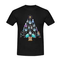 Oh Chemist Tree, Oh Chemistry, Science Christmas Black Men's Slim Fit T-shirt (Model T13)